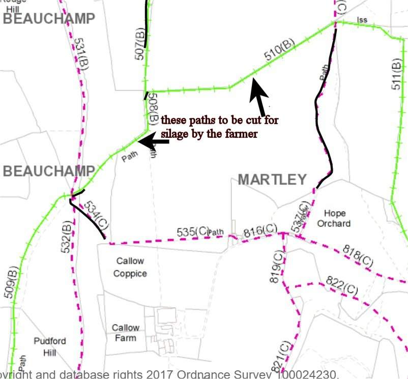 Map B South of Rodge Hill Farm